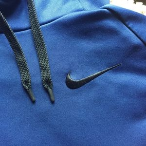 Nike Dark Blue Dry-Fit Hoodie (Men's Medium)